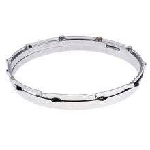 1 пара кольцевых ободков для барабана 14 дюймов, из алюминиевого сплава, прочные и крепкие