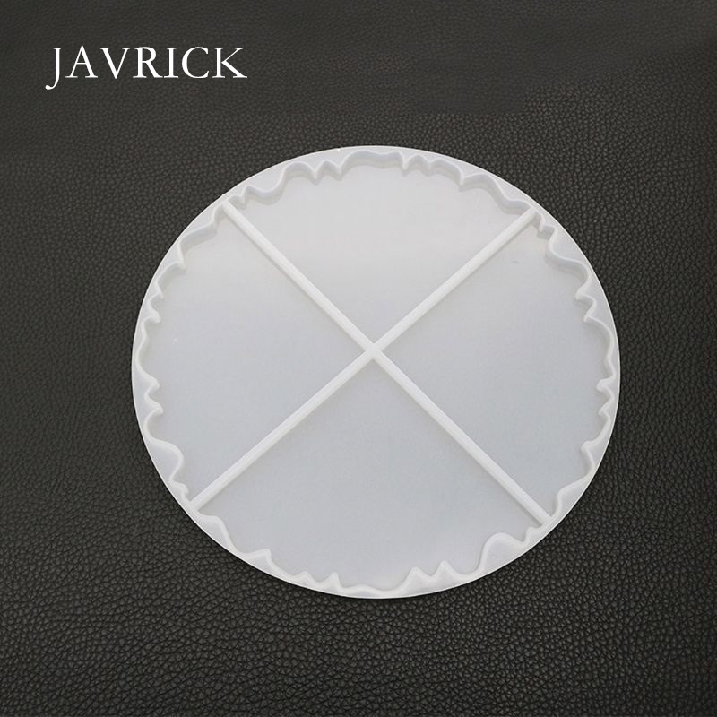 Irregular Wave Round Coaster Silicone Resin Mold Epoxy Resin Craft Tool DIY Pendant Accessories Jewelry Making Tool
