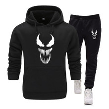 Skull venom Men's Sets hoodies+Pants Harajuku wholesale Spor