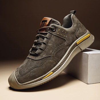 Genuine Leather Top Quality Men Shoes Autumn lace up Mens Casual OutdoorLuxury Leisure Sneakers shoes