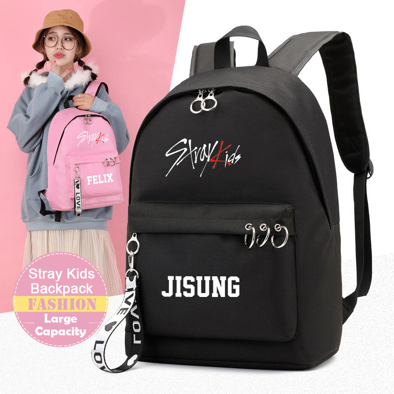 KPOP StrayKids Backpack BANG CHAN FELIX WOOJIN MINHO MINHO School Bags Jewelry Admission Package Cosmetic B047