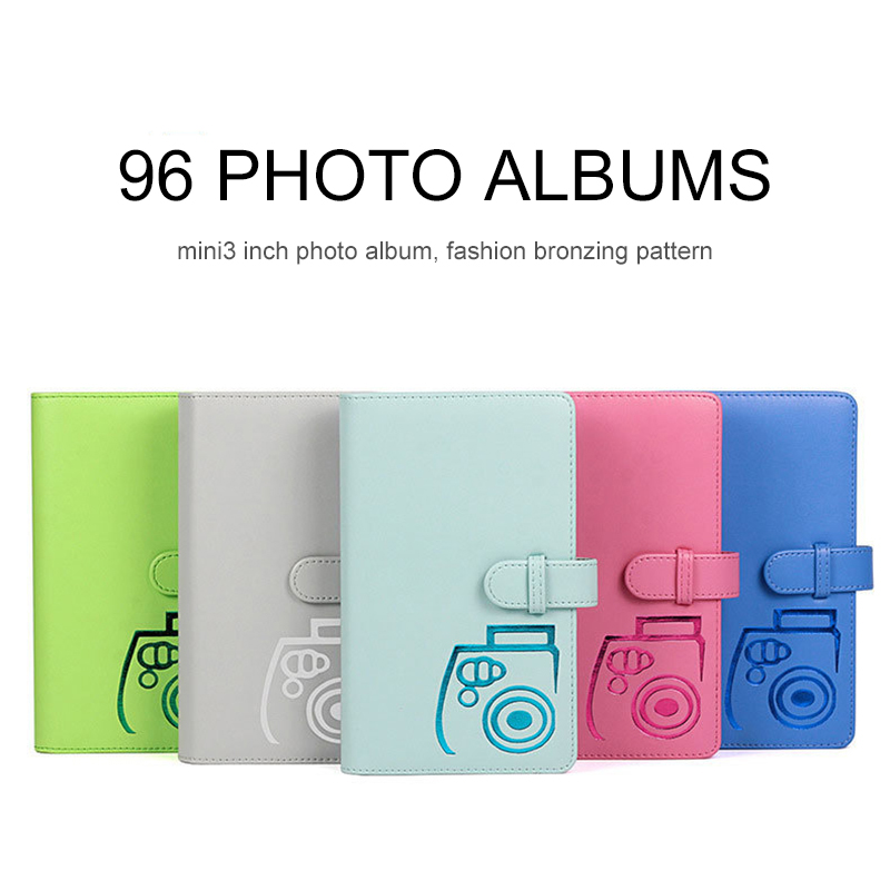 96 Pockets PU Leather Instant Photo Card Collection Album Picture Case Up To 96 64 Pockets For Travel,Photo Card Memorable Card