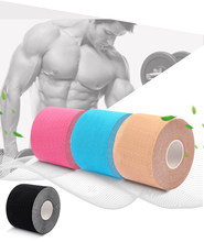 Fita cinesiologia à prova dwaterproof água atlético kinesio fita face tesoura elastoplast esportes bandagem fitness fitas médicas alívio muscular