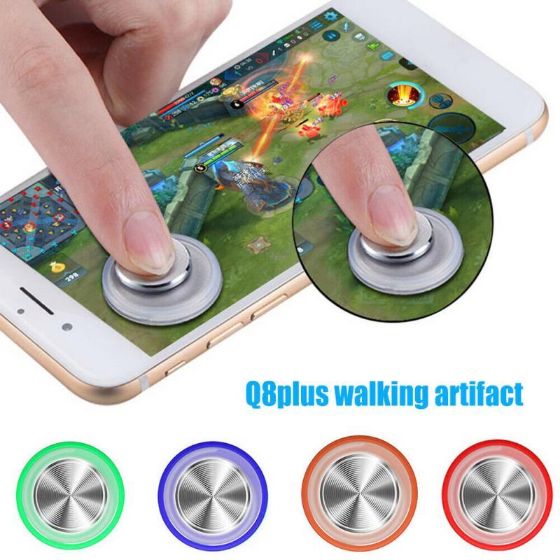 Q8 Plus Round Game Joystick Mobile Phone Rocker For Iphone Android Tablet Metal Button Controller For PUBG Controller