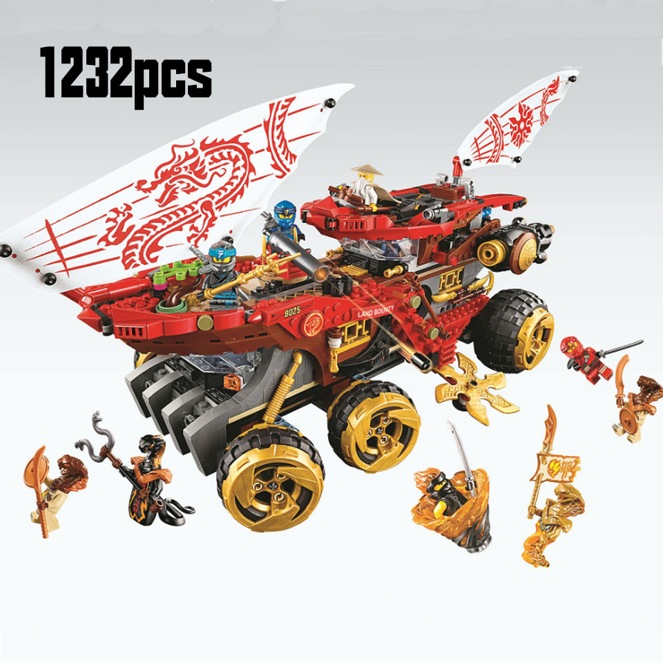 61029 858pcs Ninja Land Bounty Truck Model Building Blocks Compatible Lepining 70677 Ninjagoes Kids Toy Bricks