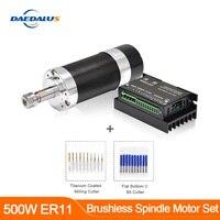 500W CNC Brushless Spindle Motor Kit ER11 collet Milling Machine & Collet Milling Cutter for CNC Brushless Motor Milling machein