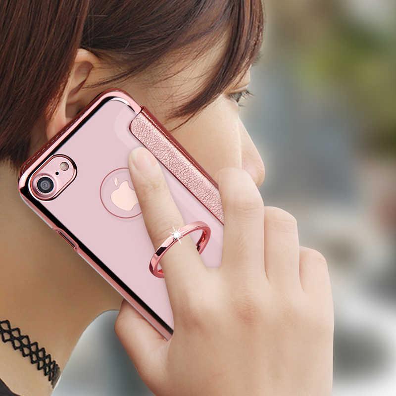 Para o iphone 7 8 plus caso xundd luxo couro do plutônio aleta carteira caso com clara capa traseira para o iphone 6s 6s mais caso funda