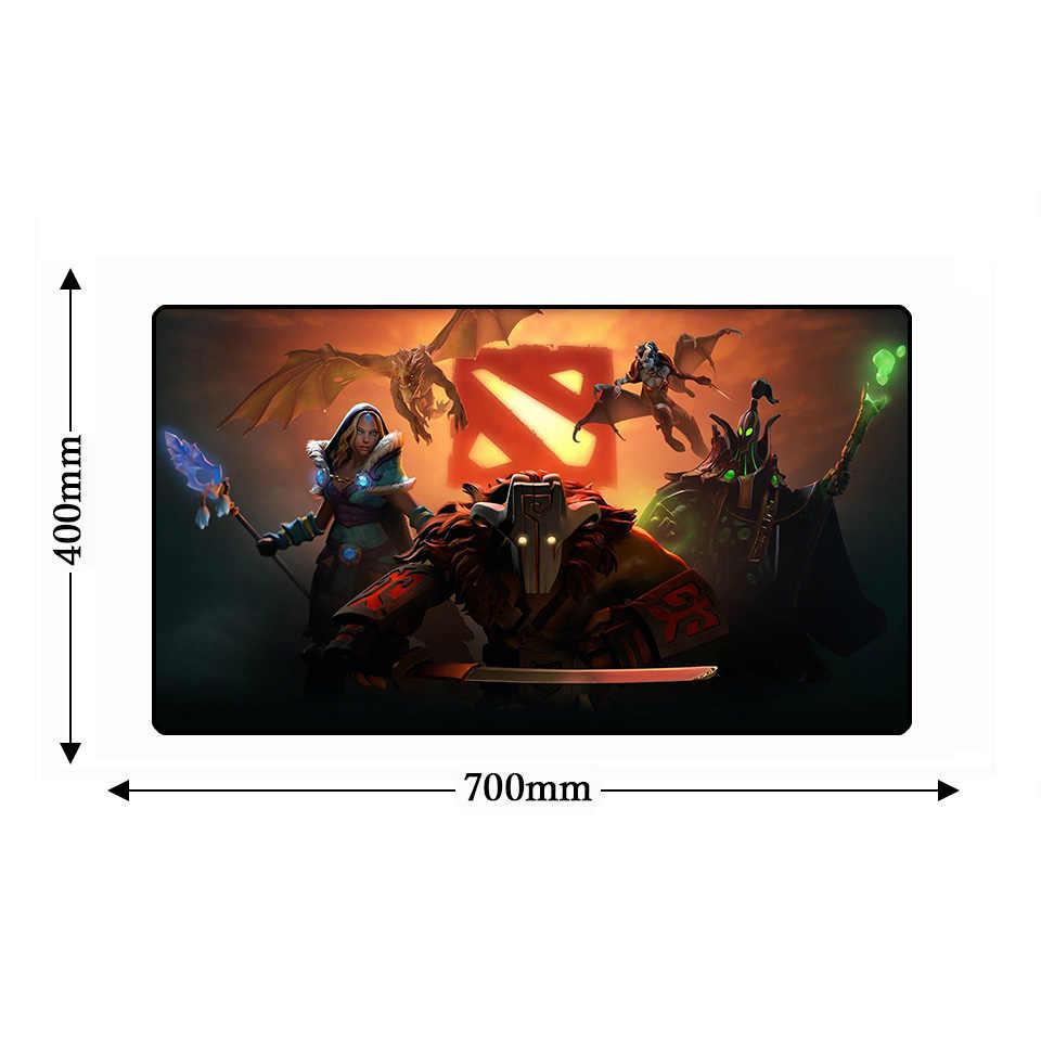 Большой размер XL DOTA 2 игровой коврик для мыши анти-скольжение компьютер Мышь накладка натуральный резиновая клавиатура Игры PC Gamer ноутбук Мышь psd настольные коврики