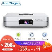 TouYinger K2 DLP Bluetooth חכם אנדרואיד מקרן Wifi תמיכה מלא HD וידאו שיקוף 2GB RAM 32GB ROM בית קולנוע סרט 3D