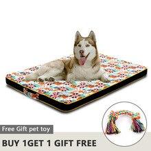 Büyük köpek yatağı Mat bellek köpük nefes köpek yatağı s Oxford alt ortopedik yatak yatakları küçük orta büyük Pet