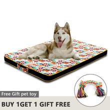 Large Dog Bed Mat Memory Foam Breathable Dog Beds Oxford Bottom Orthopedic Mattress Beds For Small Medium Large Pet