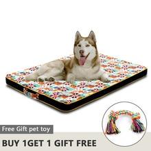 سرير كلب كبير حصيرة رغوة الذاكرة تنفس سرير كلب s أكسفورد أسفل العظام فراش سرير للحيوانات الاليفة الصغيرة متوسطة كبيرة