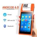 PDA Android 3G pos-терминал система 5 5 дюймов дисплей мобильный ручной принтер 58 ммсмарт пос-терминал принтер беспроводной Bluetooth