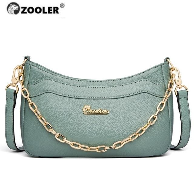 Лидер продаж 2020, женская сумка ZOOLER, первые Сумки из натуральной кожи, женские дизайнерские сумки через плечо, сумка известных брендов, модные кошельки