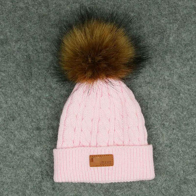Otoño Invierno moda niños bebé niño niña trenzada boina tejida boina caliente Crochet boina bola de lana gorra amarillo rosa blanco, rojo,