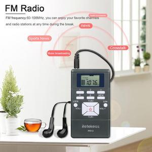 Image 2 - 10 pces retekess pr13 receptor de rádio fm bolso rádio dsp rádio portátil para grande reunião sistema de interpretação simultânea