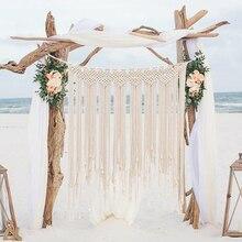Wall-Tapestry Wall-Hanging Large Macrame Tenture Fabric Boho-Decor Wedding-Decoration
