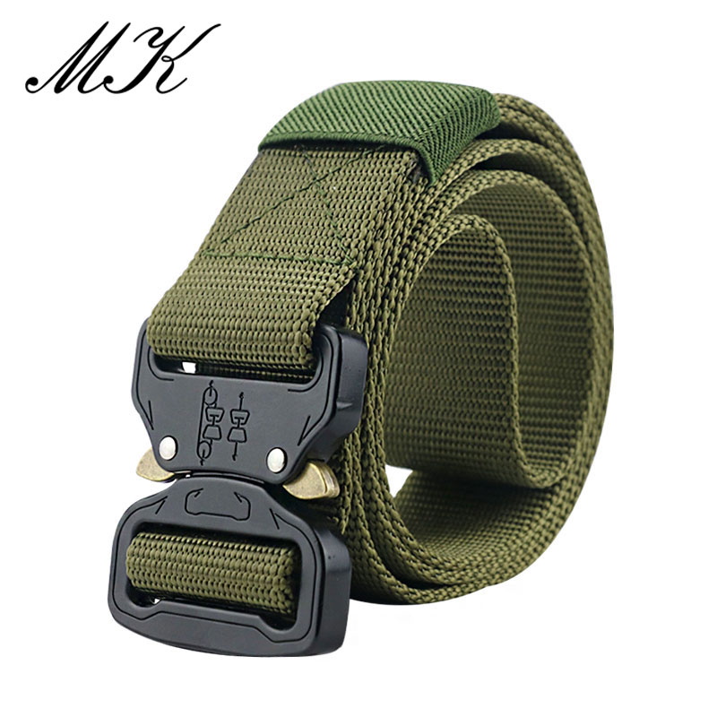 Maikun пояс мужской ремень военное оборудование боевые тактические ремни для мужчин армейский обучений нейлоновый пояс с металлической пряжкой открытый охотничий ремень - Цвет: Army Green