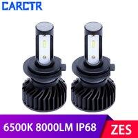 6500K ZES Beams Car Headlight Bulbs H8/9/11 H7 Led Lamp H4 HB3/H10/9005 HB4/9006 IP68 24W Super Bright 8000LM Car Lights 2PCS P7|Car Headlight Bulbs(LED)|   -