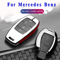 Высококачественный чехол для автомобильного ключа из оцинкованного сплава для Mercedes benz A B R G Class GLK GLA E200 E200L W176 2 3 кнопки