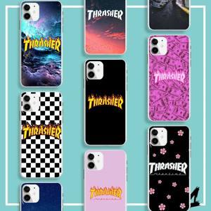 FHNBLJ Street fashion brand THRASHER Custom Photo Soft Phone Case For iphone 7 8 6 5 plus X XR XS MAX 11 11pro SE2020 case(China)
