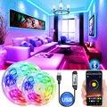 USB Bluetooth LED Streifen SMD 5050 RGB Wasserdicht 5V LED Licht Streifen dekorative beleuchtung urlaub partei schlafzimmer TV backlit band