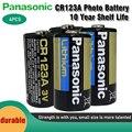 4 шт. новый оригинальный Panasonic литиевая батарея 3 В 1550 мАч CR123 CR 123A CR17345 16340 cr123a сухой основной Аккумулятор для камеры