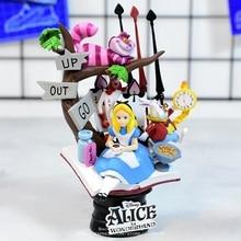 디즈니 앨리스 원더 랜드 공주 16cm 액션 피규어 애니메이션 미니 장식 pvc 컬렉션 입상 장난감 모델 어린이 선물
