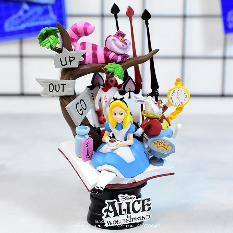Disney alice no país das maravilhas princesa 16cm figura de ação anime mini decoração pvc coleção estatueta brinquedo modelo para crianças presente
