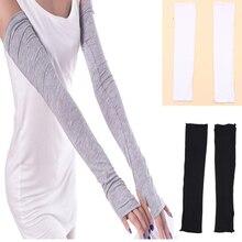 1 Pair Sports UV Protection Running Cycling Driving Reflective Sunscreen Band Arm Sleeves, Black, White, Grey