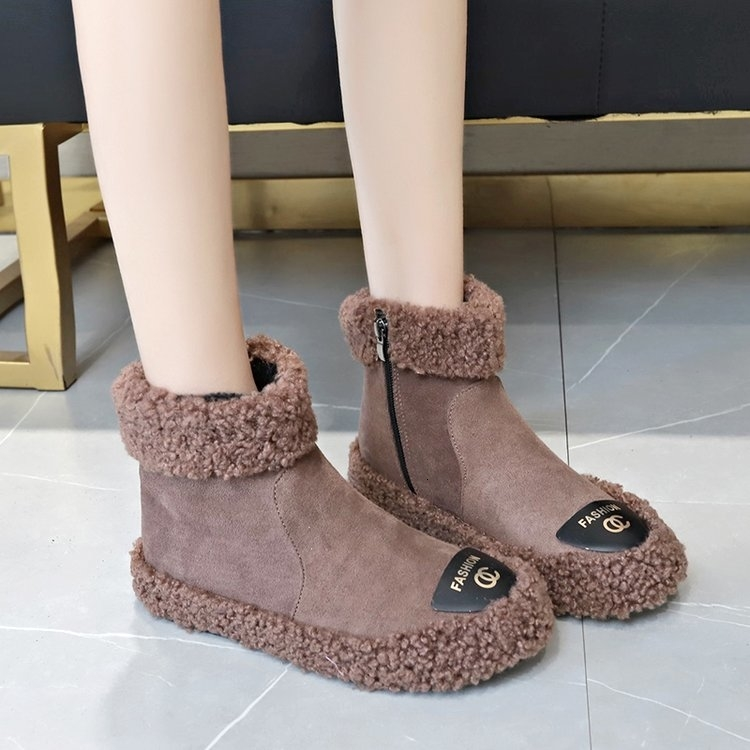 Women Boots 2019 New Plush Snow Boots For Winter Shoes Women Casual Lightweight Ankle Botas Mujer Warm Winter Boots Female 82