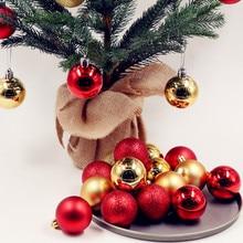8cm Christmas Tree Decor Ball Ornaments 24Pcs Modern Shiny Matte Baubles Party Wedding Hanging Decoration Supplies Shatterproof Home Decorations Balls new