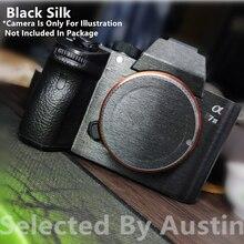 Für Kamera Haut Schutz Aufkleber Protector Schwarz Seide Sony Sony A7R4 A7R3 A7M3 A7R2 A7M2 A7 A7R Anti scratch wrap Film Aufkleber Abdeckung