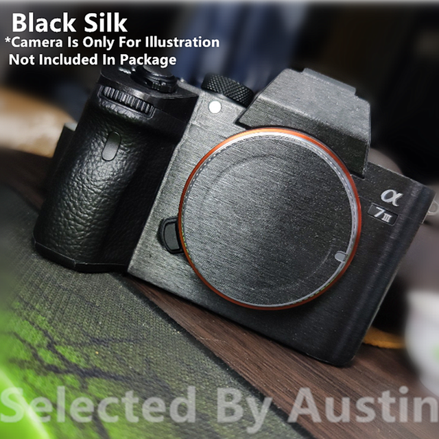 For Camera Skin Guard Decal Protector Black Silk Sony Sony A7R4 A7R3 A7M3 A7R2 A7M2 A7 A7R Anti scratch Wrap Film Sticker Cover