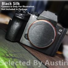 עבור מצלמה עור משמר מדבקות מגן שחור משי Sony Sony A7R4 A7R3 A7M3 A7R2 A7M2 A7 A7R נגד שריטות לעטוף סרט מדבקת כיסוי