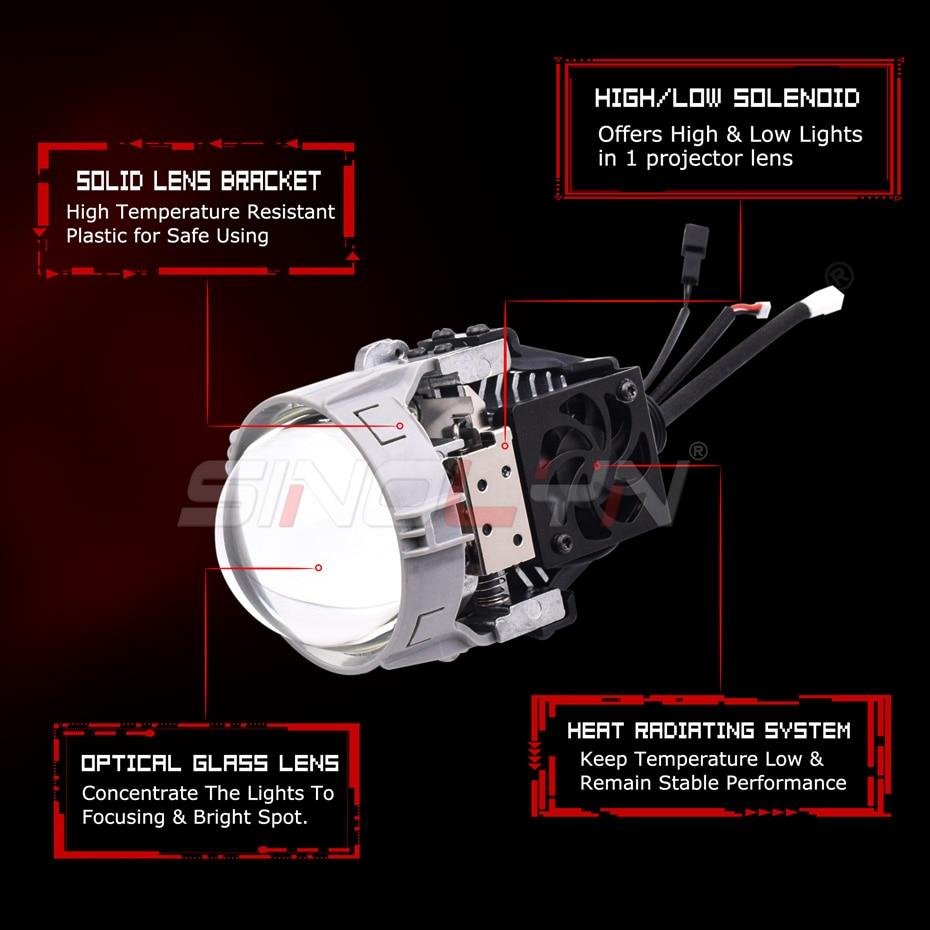Osram carlight H7 led H11 H1 H4 LED bulb HB4 HB3 car led headlight 6000K HIR2 12V For Toyota Glory for Kia for Audi for BMW - 4