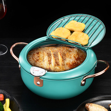 Tempura Fryer Pan Temperature Control Fried Cooking Pots Tools Kitchen Utensil Fried Japanese Style Cooking Tools