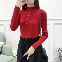 Winter Autumn Women Sweater High Elastic Solid Turtleneck Sweater Ladies Slim Sexy Tight Bottoming Knitted Pullovers