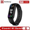 Xiaomi Mi Band 6 умный браслет 5 цвета AMOLED экран Кислород крови Smartband фитнес браслет Bluetooth спортивный водонепроницаемый смарт-браслет miband 6