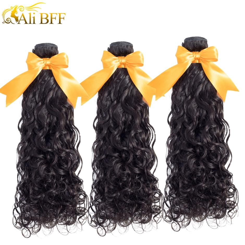 Али BFF малайзийские волнистые волосы 4 пряди, 100% натуральные кудрявые пучки волос пряди Remy для наращивания, могут быть окрашены