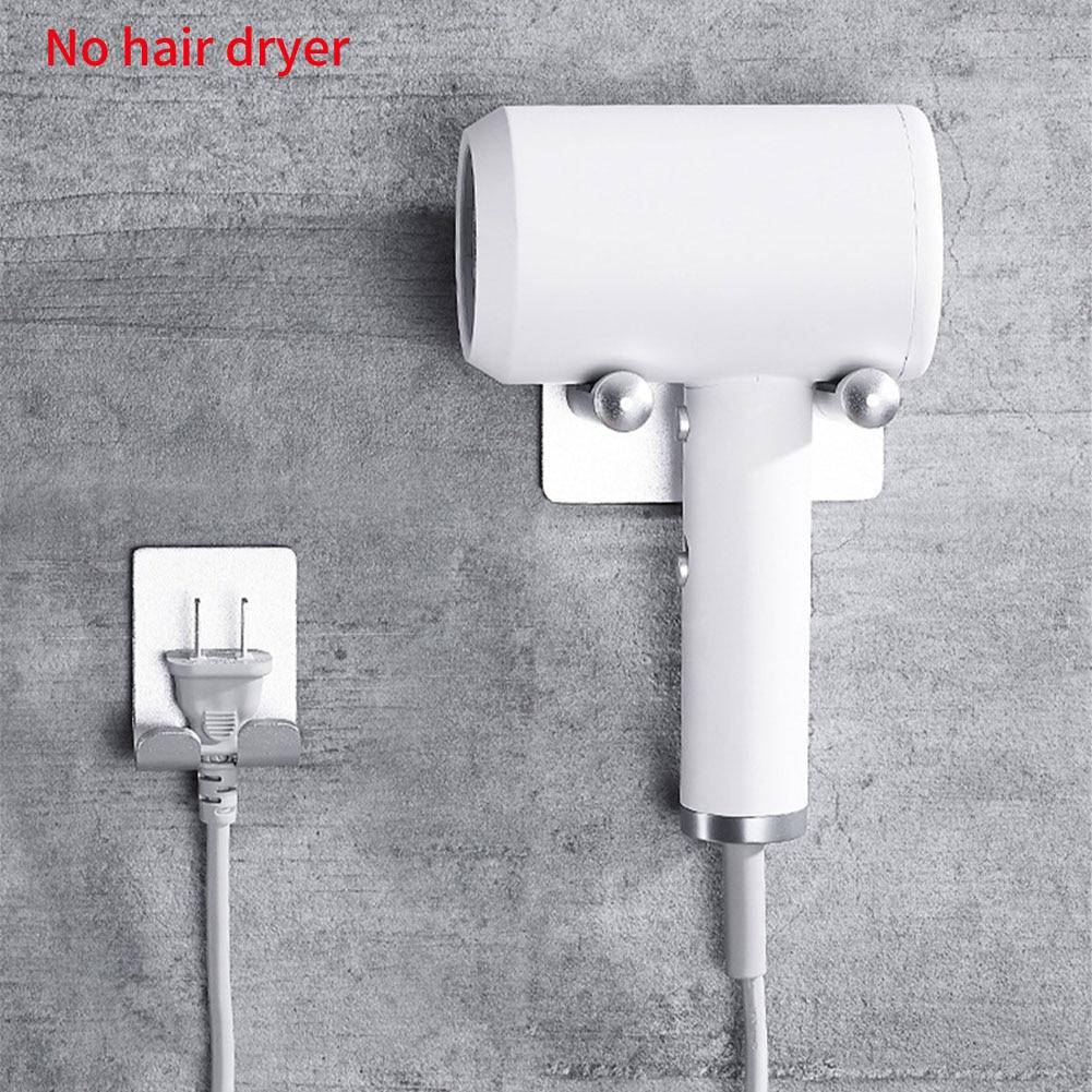 Space Aluminium Storage Bracket Hanger Organizer Silver Bathroom Wall Mount Universal Rustproof Free Punch Hair Dryer Holder