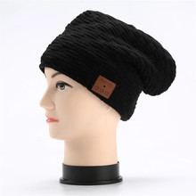 Winter Soft Warm Music Cap Headset Wireless Bluetooth Beanie Hat Earphone Fashion Design Headphone With Mic For Mobile Phone