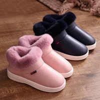 Botas de nieve para Mujer, botines de piel cálidos para invierno, par de Zapatos de algodón con suela gruesa, Zapatos planos para Mujer, Zapatos impermeables para Mujer
