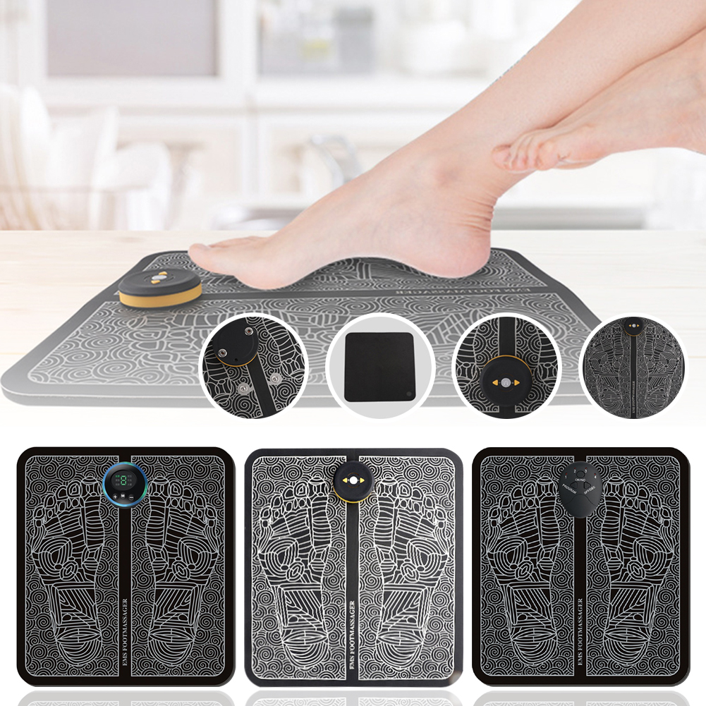 Foot Massager EMS Electric Vibrating Portable Sole Massager Acupressure Relax, Relieve Fatigue