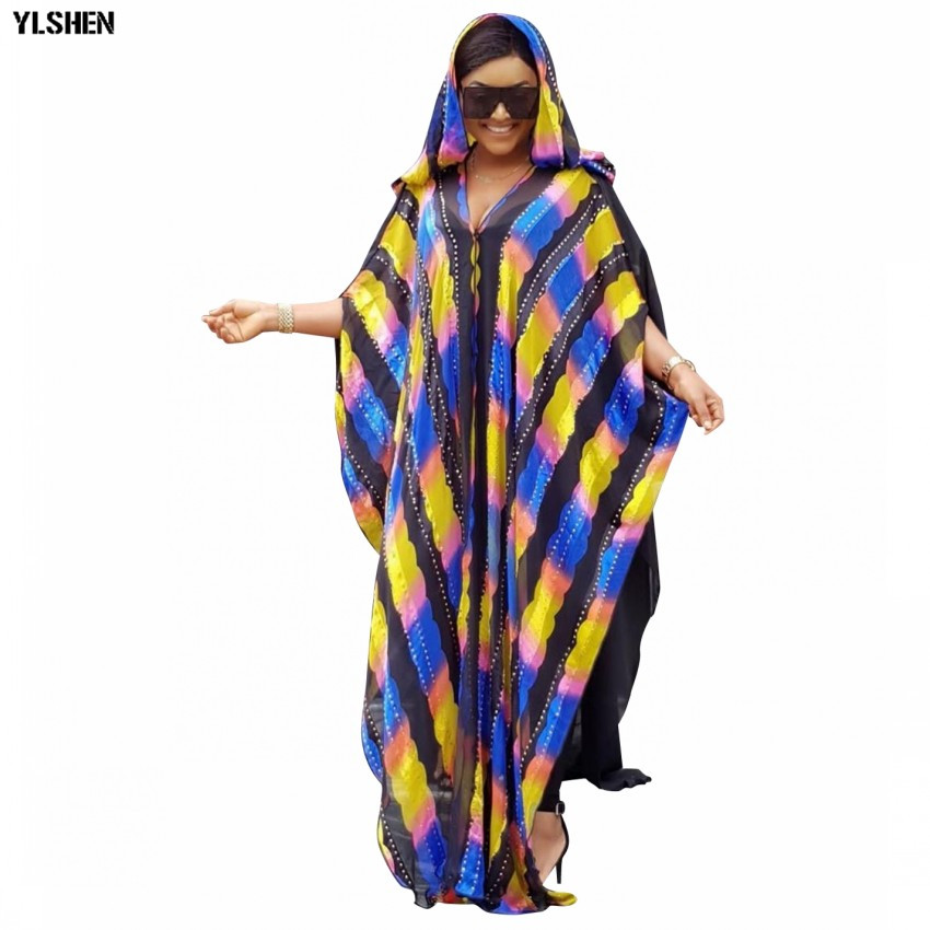 New Style African Dresses For Women Dashiki Rainbow African Clothes Basin Riche Robe Boubou Africain Style Africa Dress Outfit