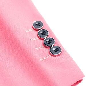 Image 4 - PYJTRL мужской качественный цветной деловой приталенный Повседневный Блейзер зеленый фиолетовый розовый цвет шампанского желтый черный цвет