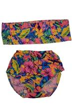 summer beachwear for women swimwear swimsuit bikini push up High-waisted Strapless Floral Print Bikini Set leaf print cross back bikini set