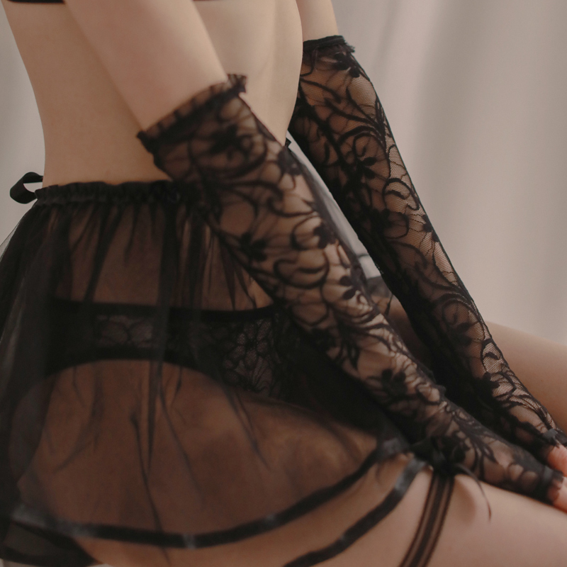 Sexy Lace Gloves Long Black Gloves Sexy Accessories