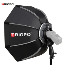 Triopo 90 سنتيمتر صور المحمولة في الهواء الطلق Speedlite المثمن مظلة سوفتبوكس ل Godox V860II TT600 Yongnuo YN560IV YN568EX فلاش KS90