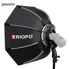 Tripo 90cm 사진 Godox V860II TT600 Yongnuo YN560IV YN568EX 플래시 ks90에 대 한 휴대용 야외 Speedlite 팔각형 우산 Softbox
